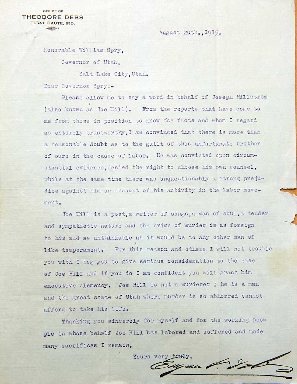 how to write a pardon letter to governor