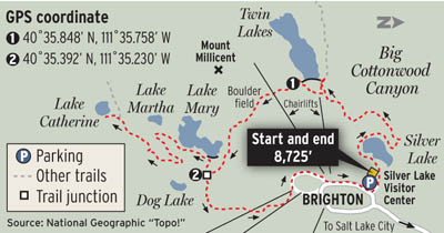 Hikes Of The Week The Salt Lake Tribune - Brighton utah us map