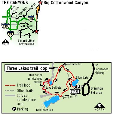Brighton Utah Map.Hikes Of The Week The Salt Lake Tribune