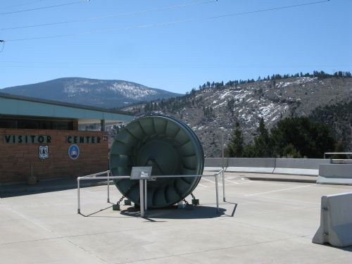  Flaming Gorge Dam near visitors center