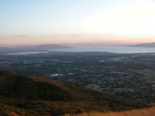  Utah Lake as seen from Squaw Peak