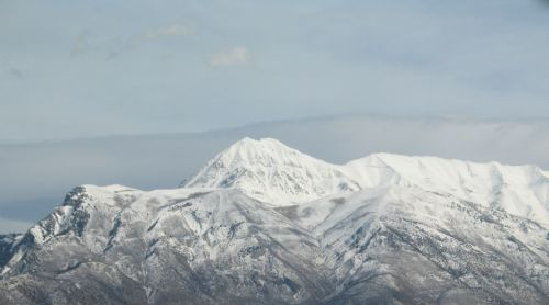 Mount Timpanogos and Mahagony Mountain, North end.