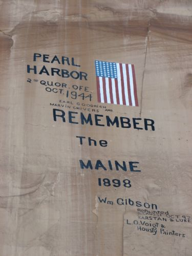 Maine Rememberance from Pearl Harbor in Dry Fork Canyon near Vernal
