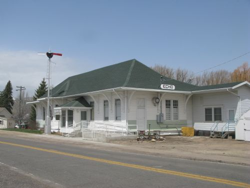  Echo train depot relocated to Coalville and is now the senior citizens center.