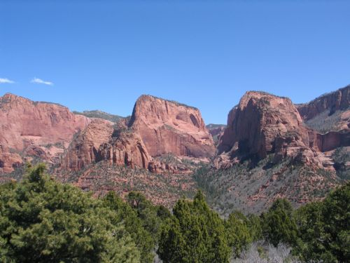  Beatty Point, Nagunt Mesa and Timber Top in the Kolob Section of Zion National Park