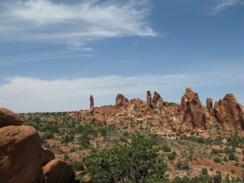  Dark Angel formation at Arches National Park