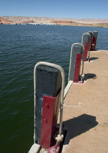  Bullfrog Marina gas pump at Lake Powell