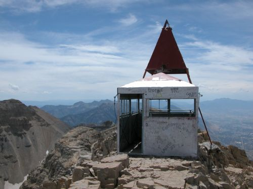 Survey station on Mt. Timpanogos