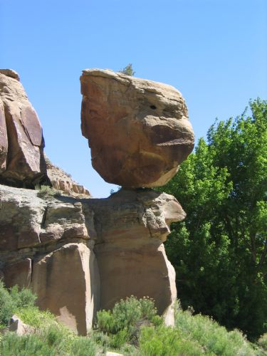  Balanced Rock also known as Pig head Rock - Nine Mile Canyon
