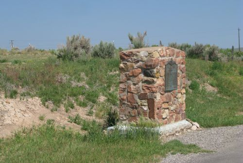 Daughters of the Utah Pioneers monument in Randolph