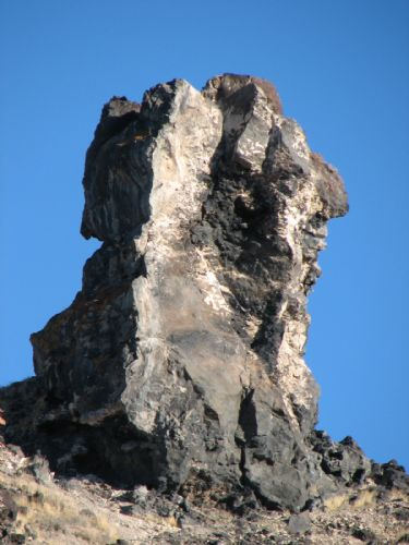Great Stone Face - Guardian of the Desert or Joseph Smith Rock near Delta