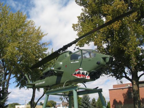  Helicopter in front of Vernal City offices