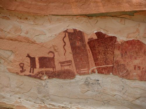 Pictographs near Temple Mountain on the San Rafael Swell