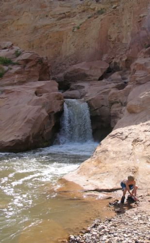Swimming hole on the Fremont River in Capitol Reef National Park.