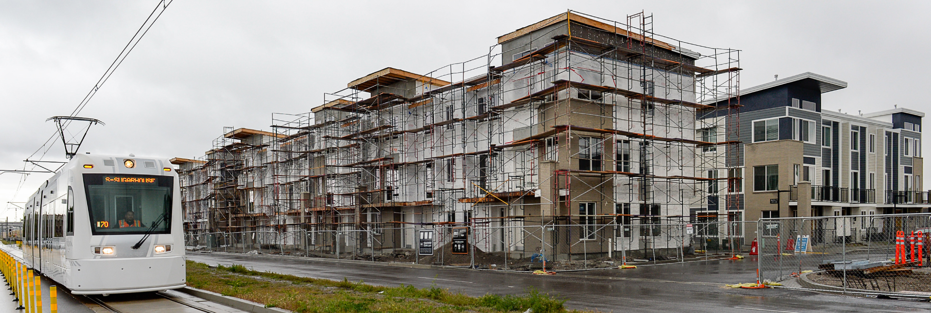 Photo of an new apartment complex construction in salt lake city