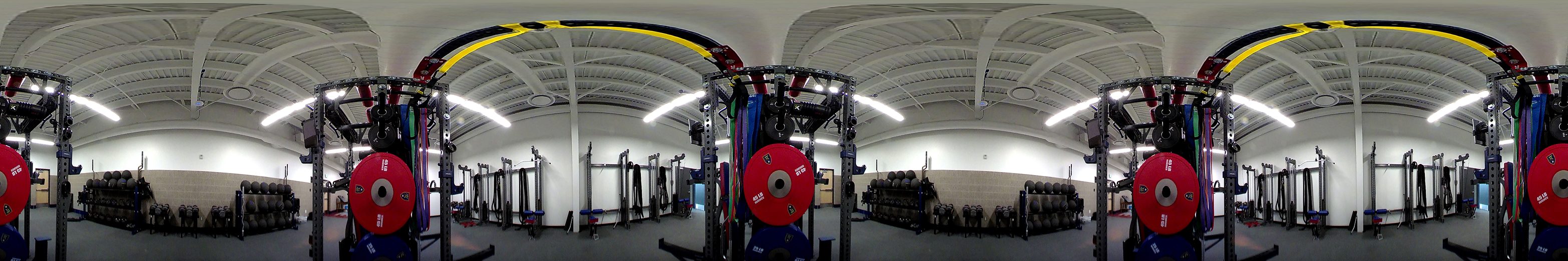 various free weights and weight machines are available for use in the weight room